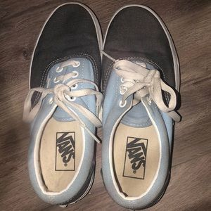 Blue and grey tie on vans In mid condition